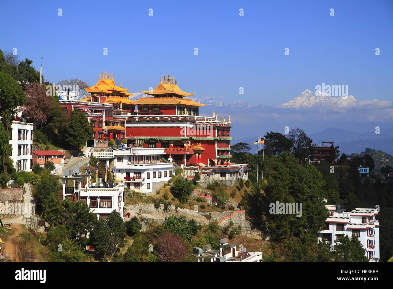 Thrangu Tashi Yangtse Moastery Photo Stock