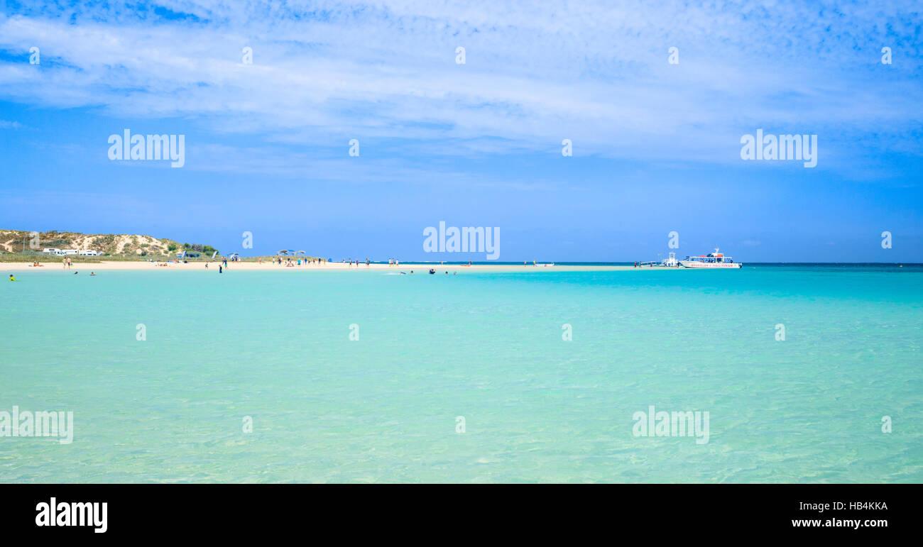 Coral Bay Beach à l'ouest de l'Australie Banque D'Images