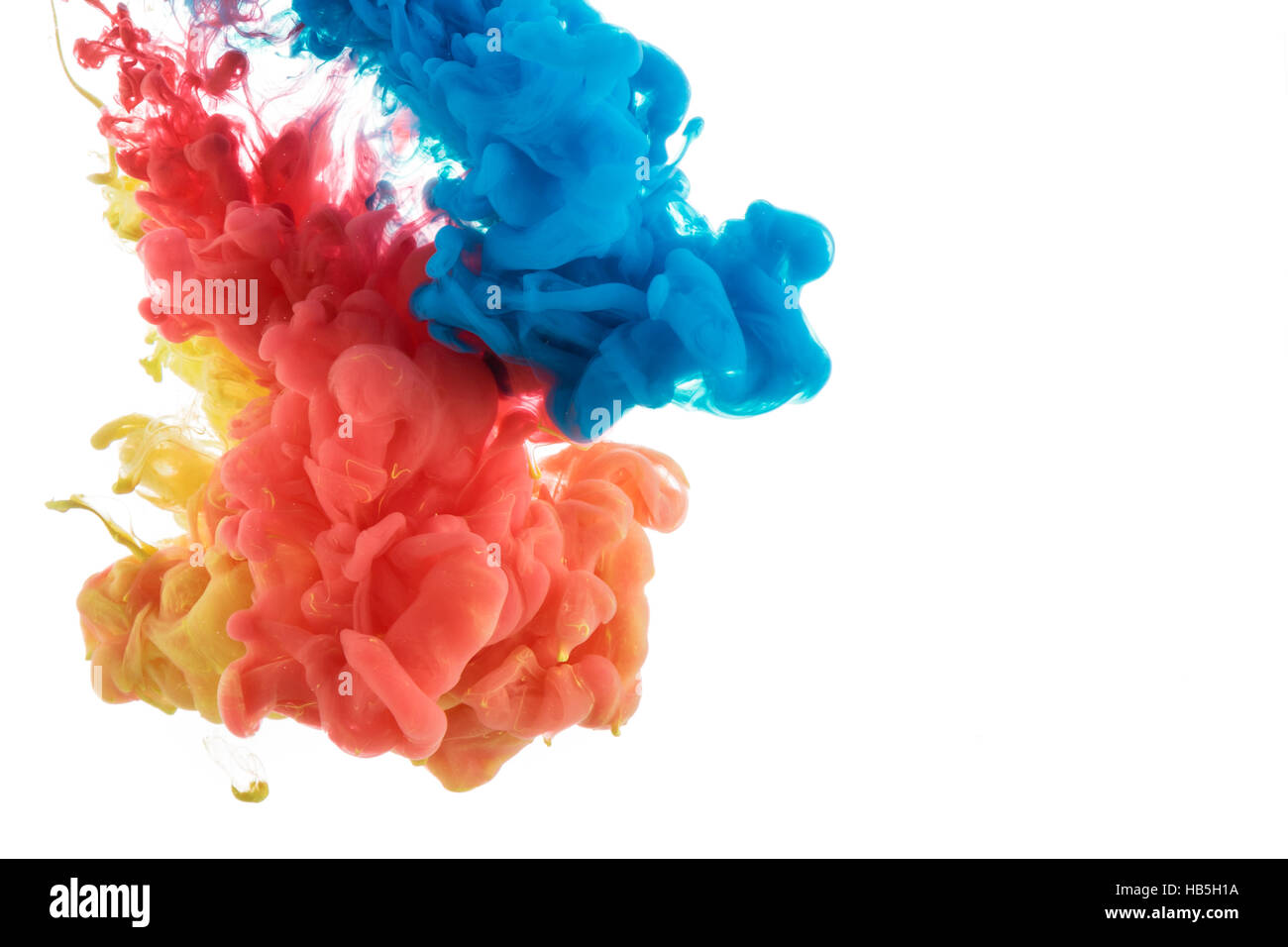 Couleur de l'eau dans la peinture abstraite Photo Stock