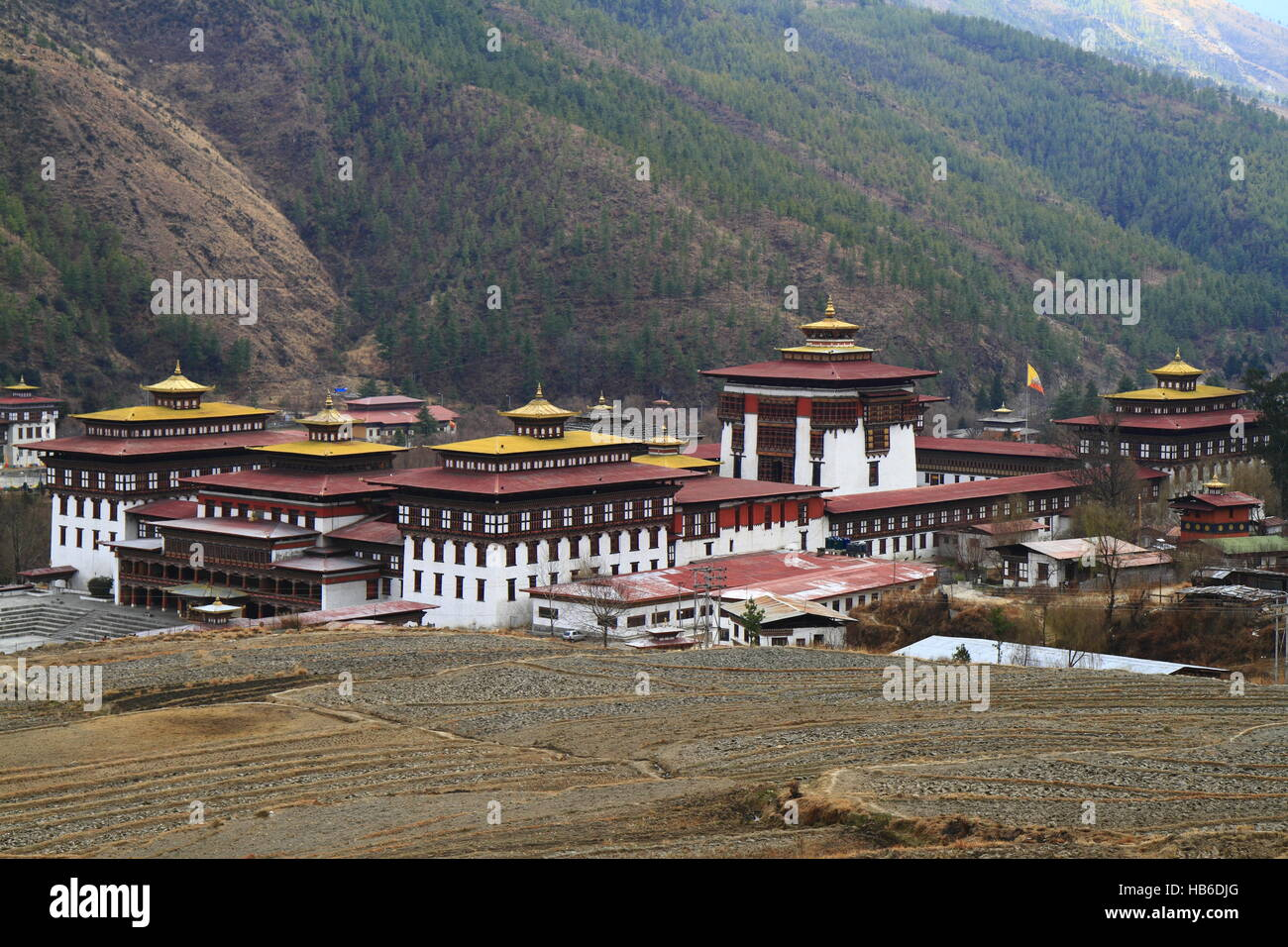 Tashichho Dzong à Thimphu Photo Stock