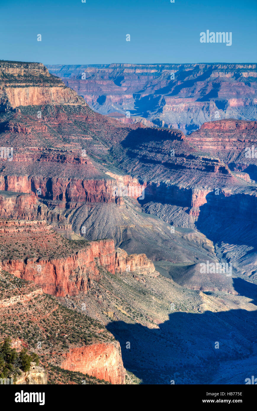 Rive Sud, le Parc National du Grand Canyon, UNESCO World Heritage Site, Arizona, USA Photo Stock