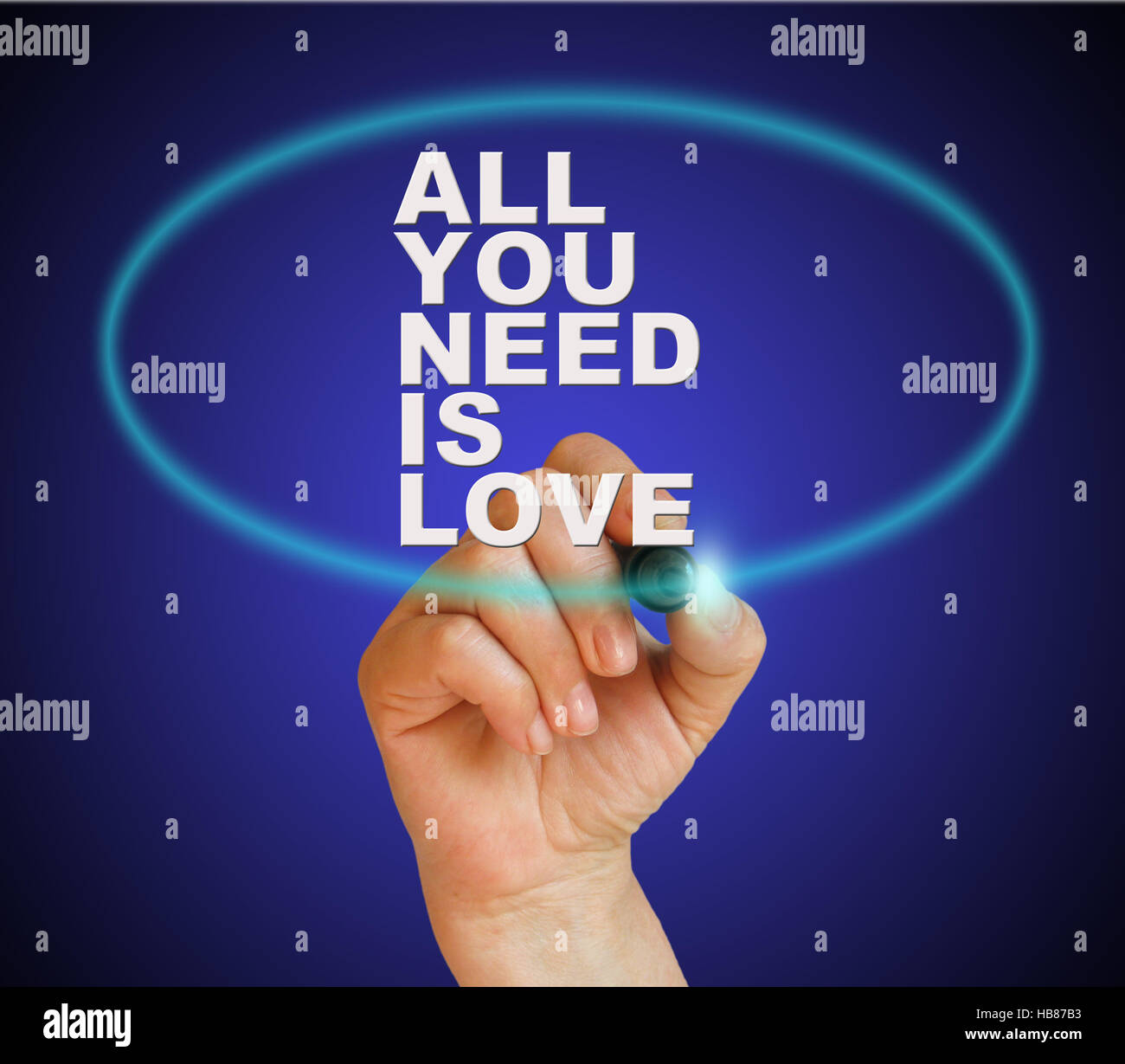 Tout ce qu'il vous faut, c'est l'amour Banque D'Images