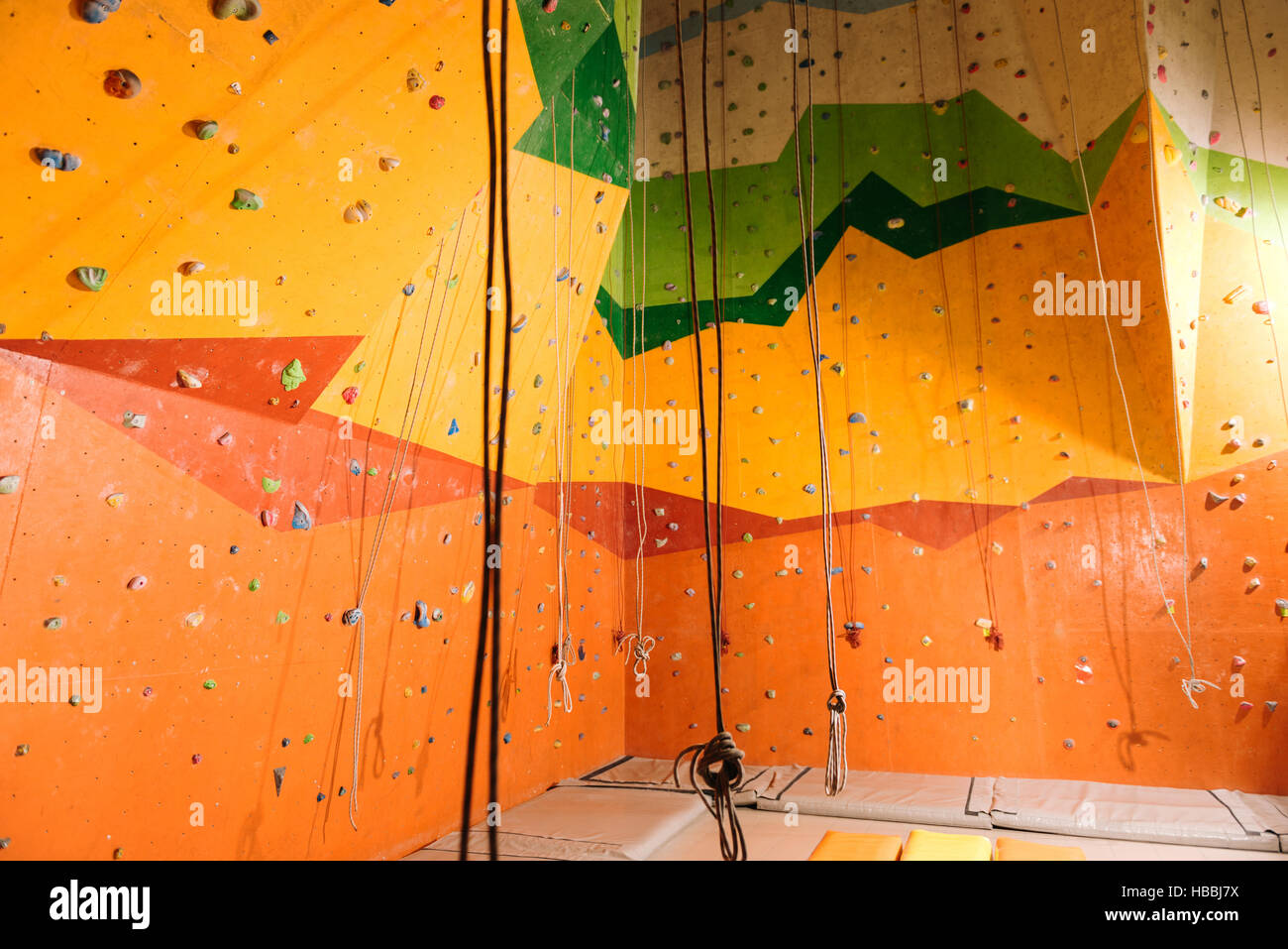 Close up of climbing gym Photo Stock