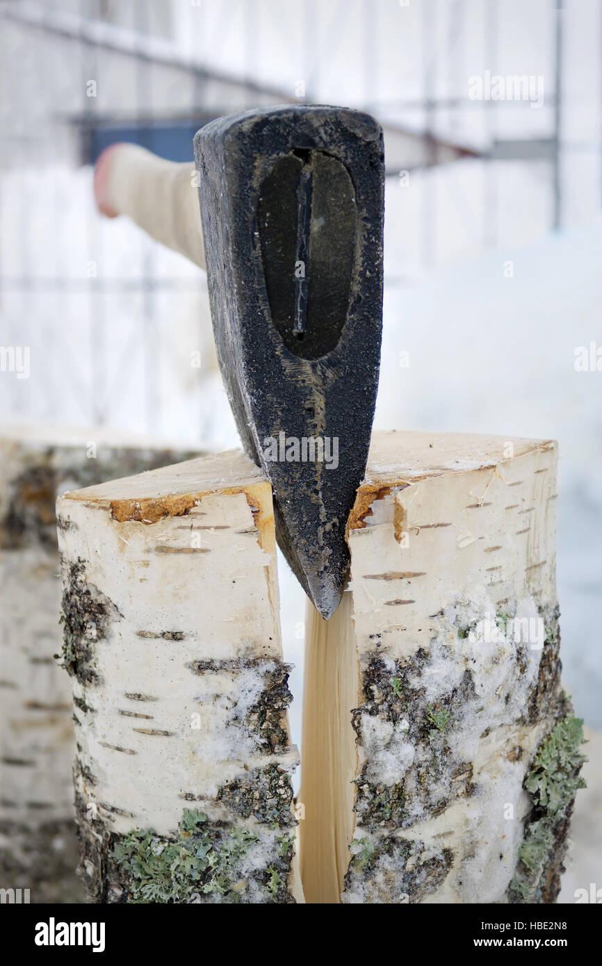 Fractionnement du fer ax Photo Stock