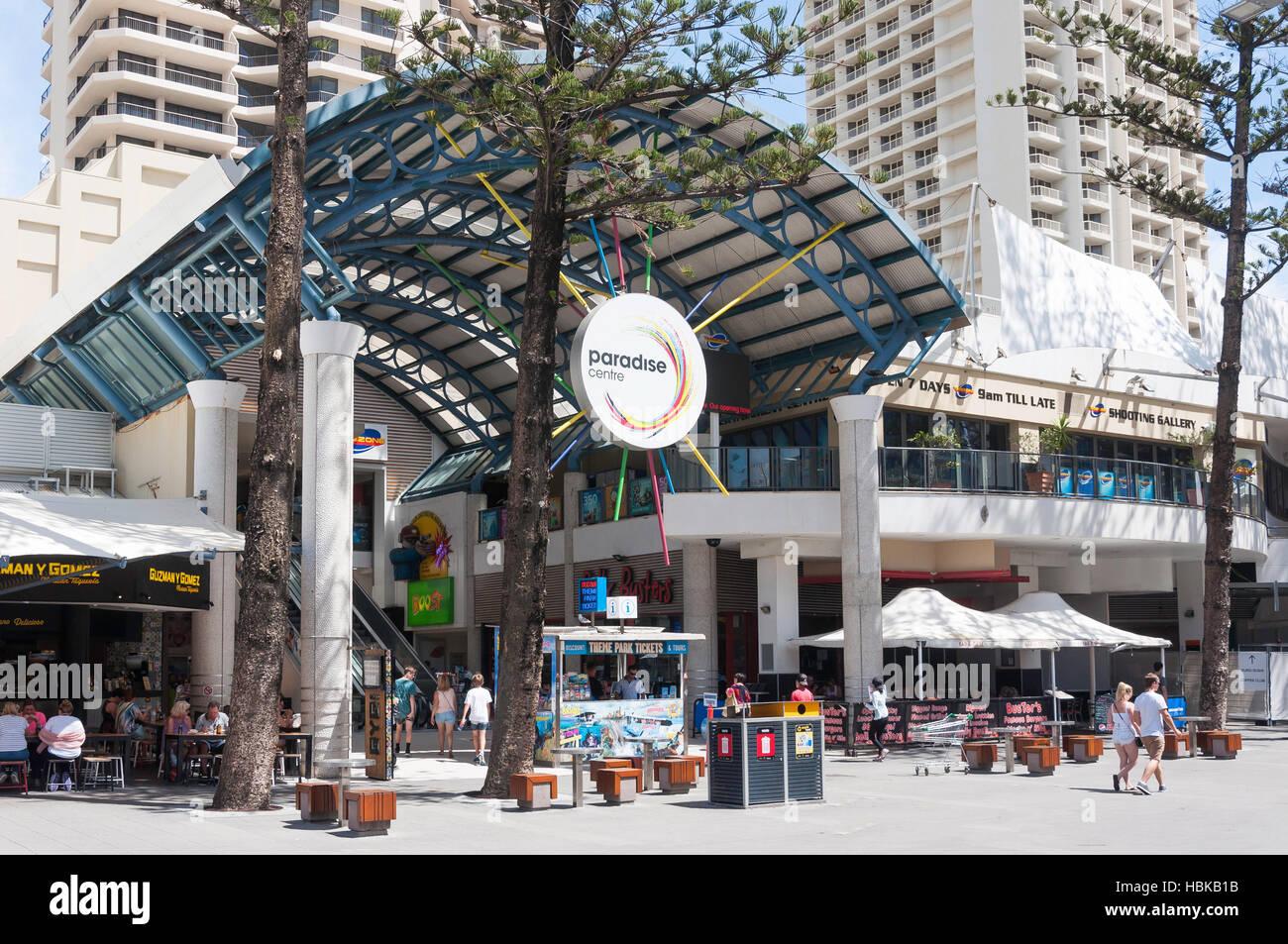 Entrée au paradis de jeux, Cavill (Mall) Avenue, Surfers Paradise, ville de Gold Coast, Queensland, Australie Photo Stock