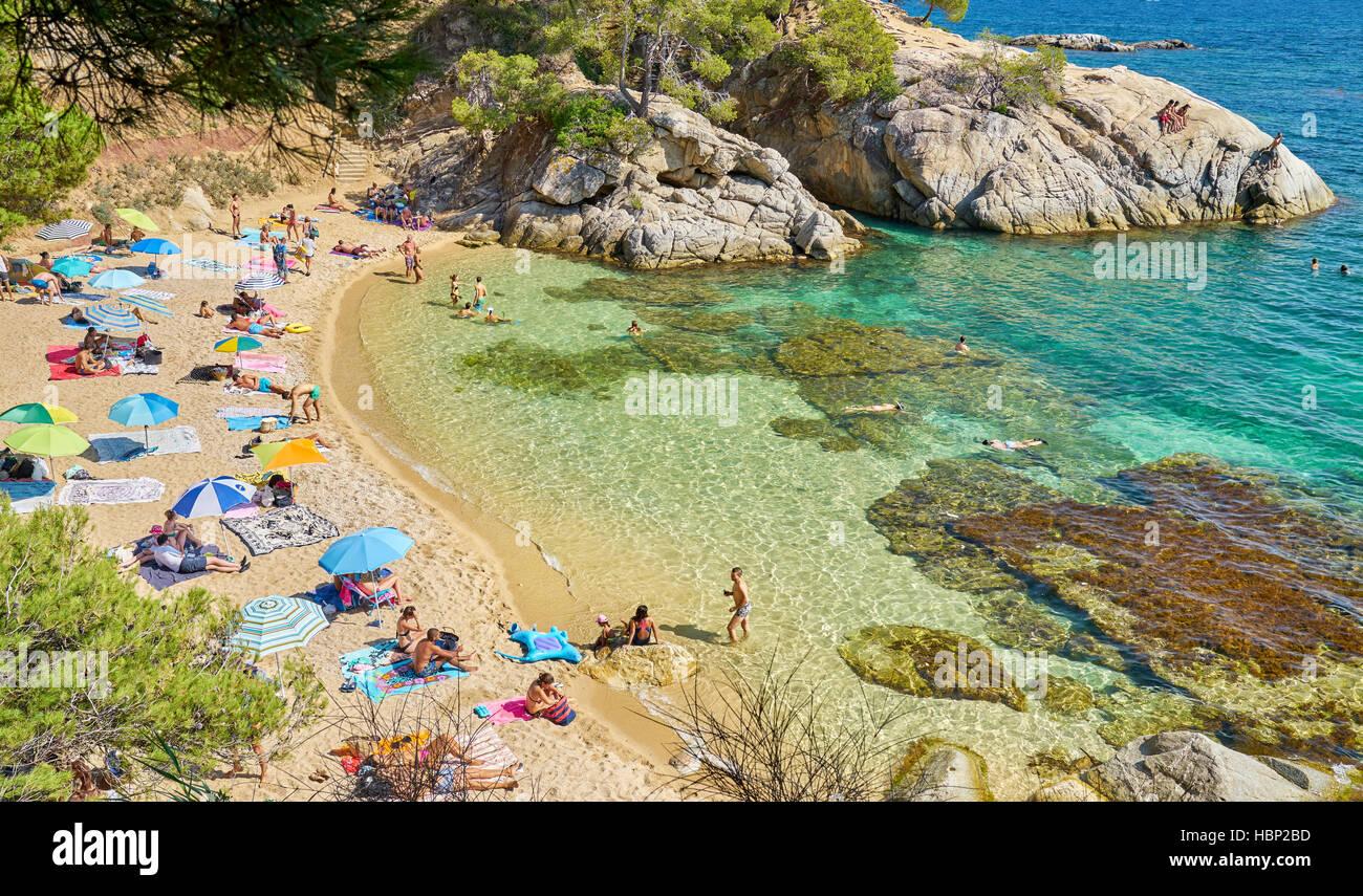 Costa Brava, Catalogne, Espagne Photo Stock