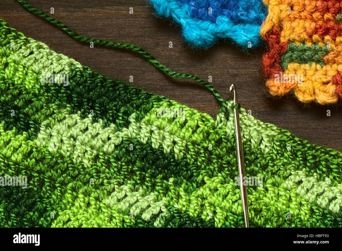 Crochet Handicraft Making Place Mat Photos Crochet Handicraft
