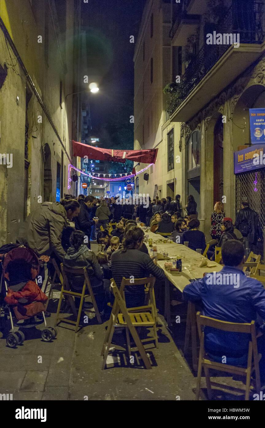 Fête de rue de Barcelone Banque D'Images