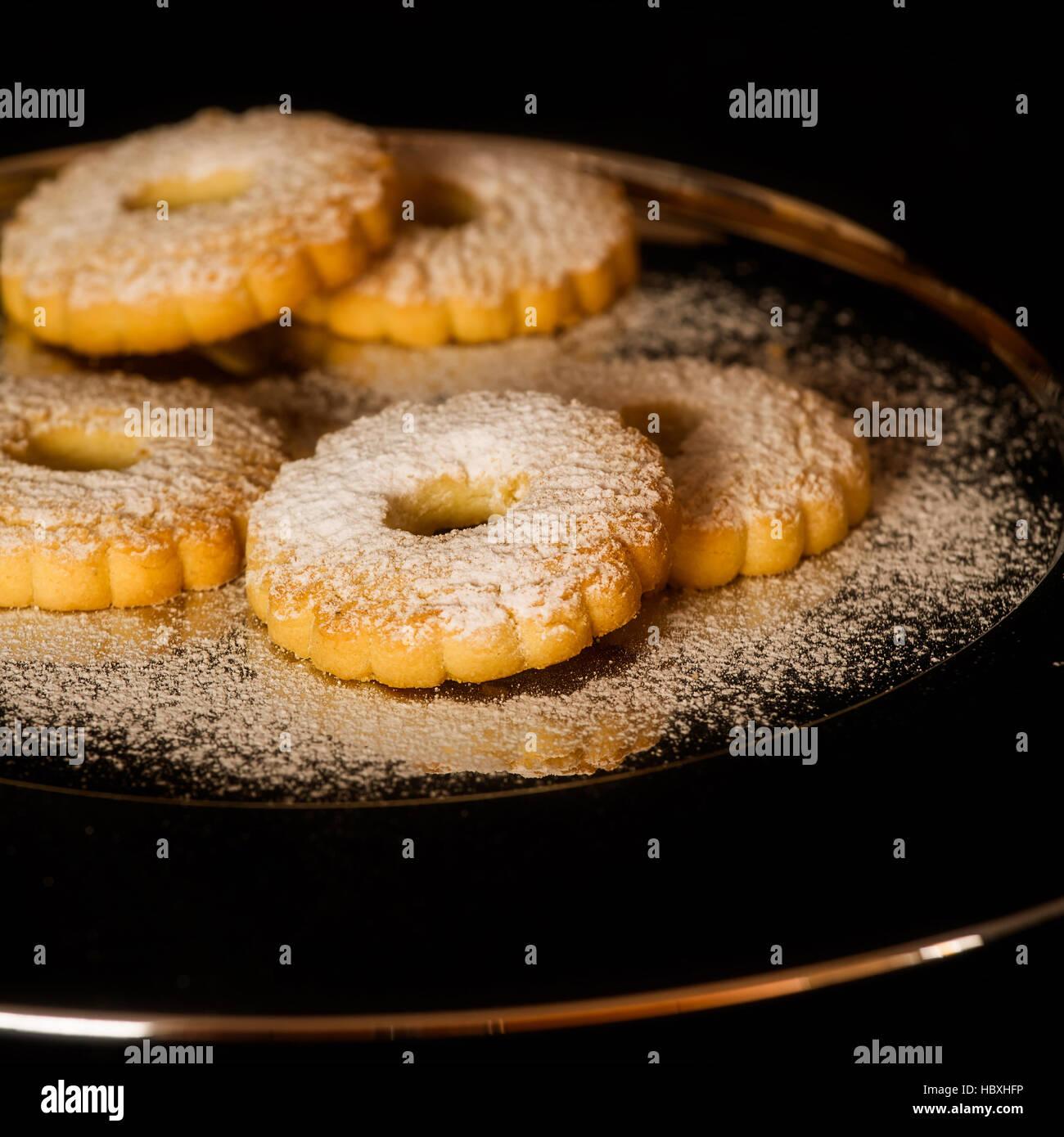 Biscuit noix de sucre glace Photo Stock