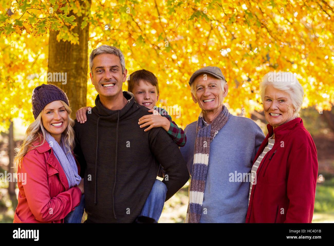 Happy family at park Photo Stock