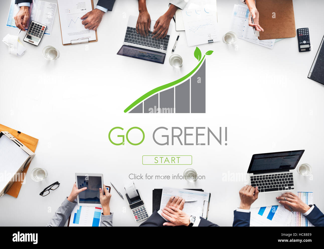 Rendez-vous sur la conservation des ressources naturelles vert Eco Concept Photo Stock