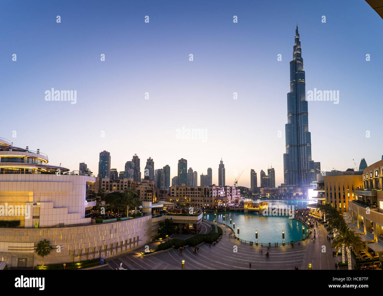Burj Khalifa, le centre-ville, Dubaï, Émirats Arabes Unis Photo Stock