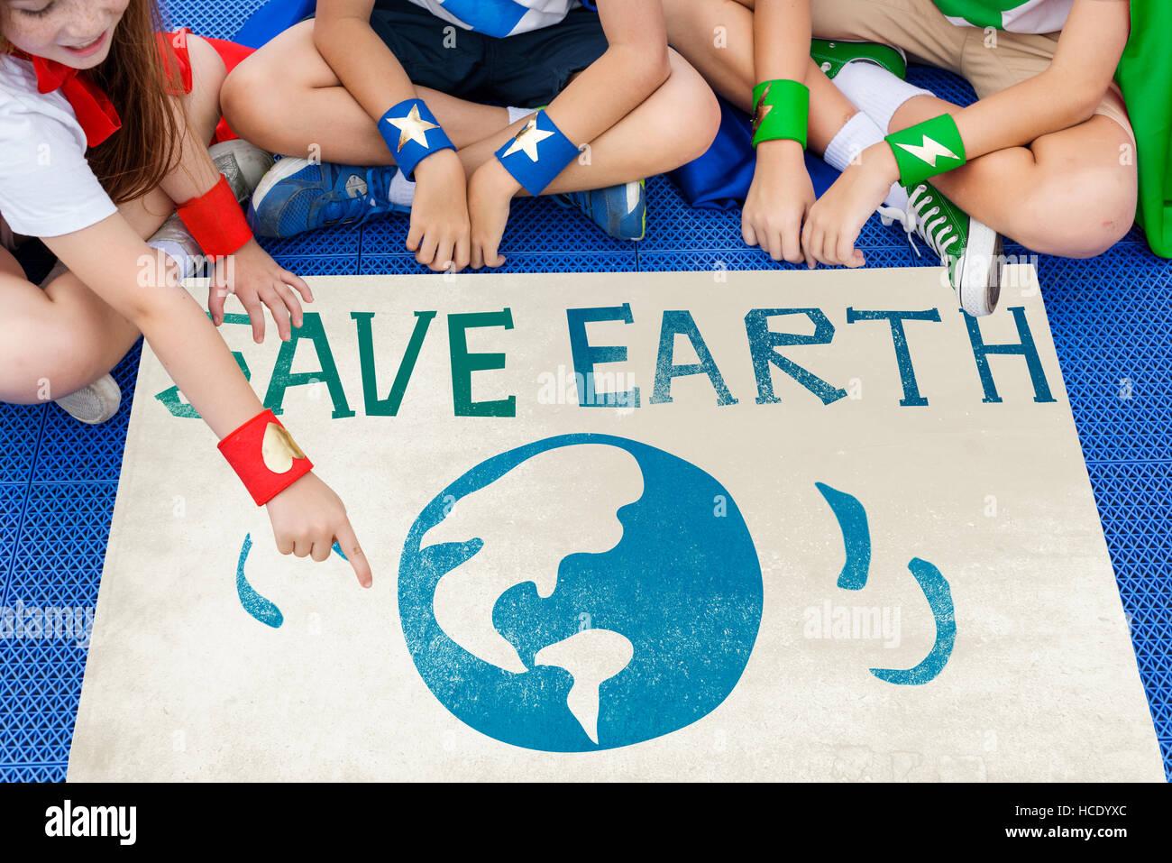 Le jour de la terre icône Globe Concept Photo Stock