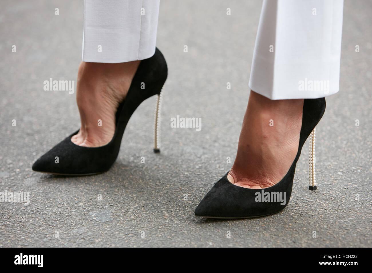 Talons Max Hauts Noir Chaussures Avant Pantalon Blanc Femme Et Avec ZAwx44