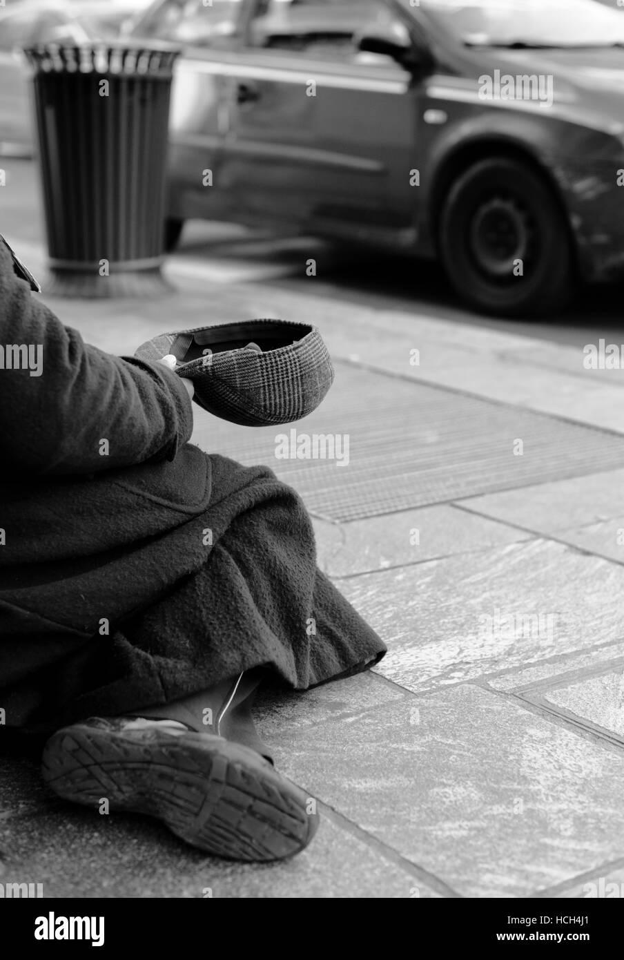 pauvreté Photo Stock