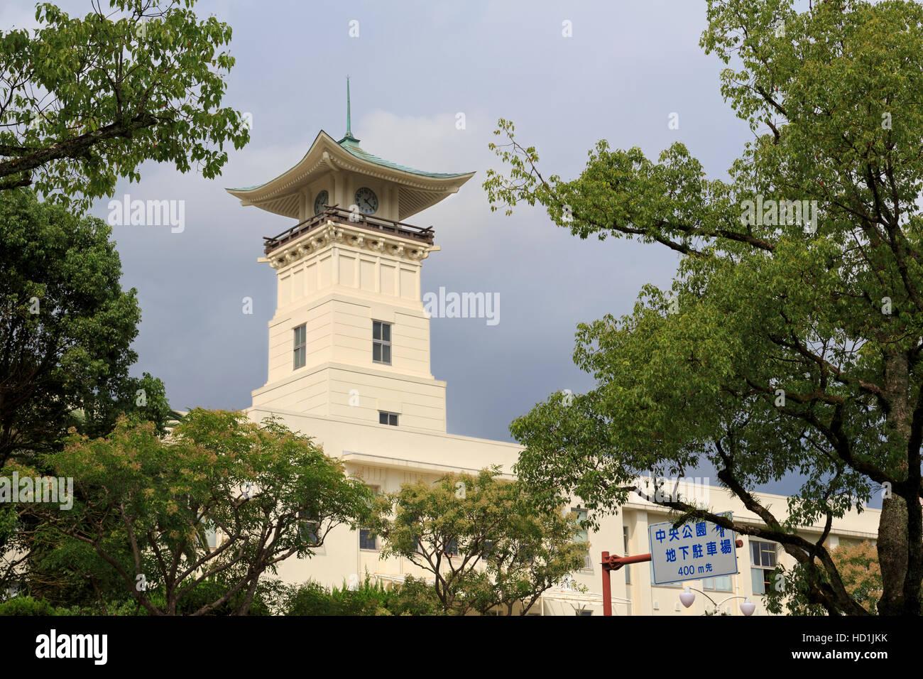L'architecture japonaise, Kochi City, l'île de Shikoku, Japon, Asie Photo Stock