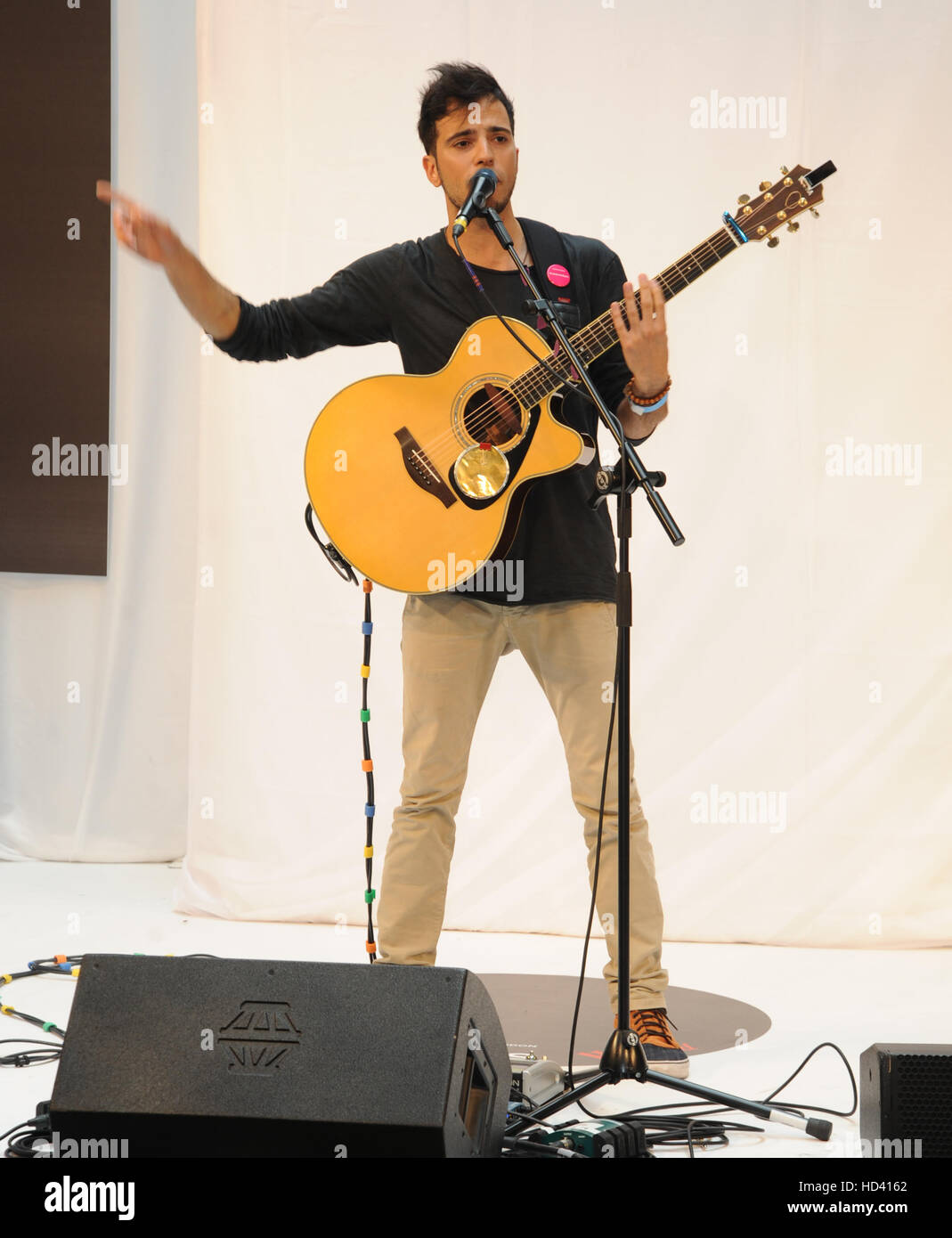 Westfield Stratford Concerts grand final comprend: Lucca Où: London, Royaume-Uni Quand: 04 Oct 2016 Banque D'Images