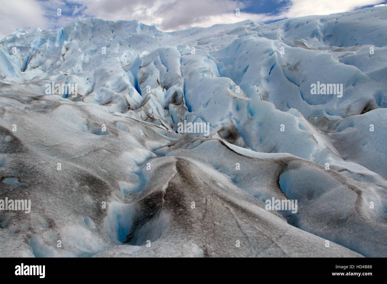 El Calafate, arg, 06.12.2016: glacier Perito Moreno argentin situé dans le parc national Los Glaciares, Photo Stock
