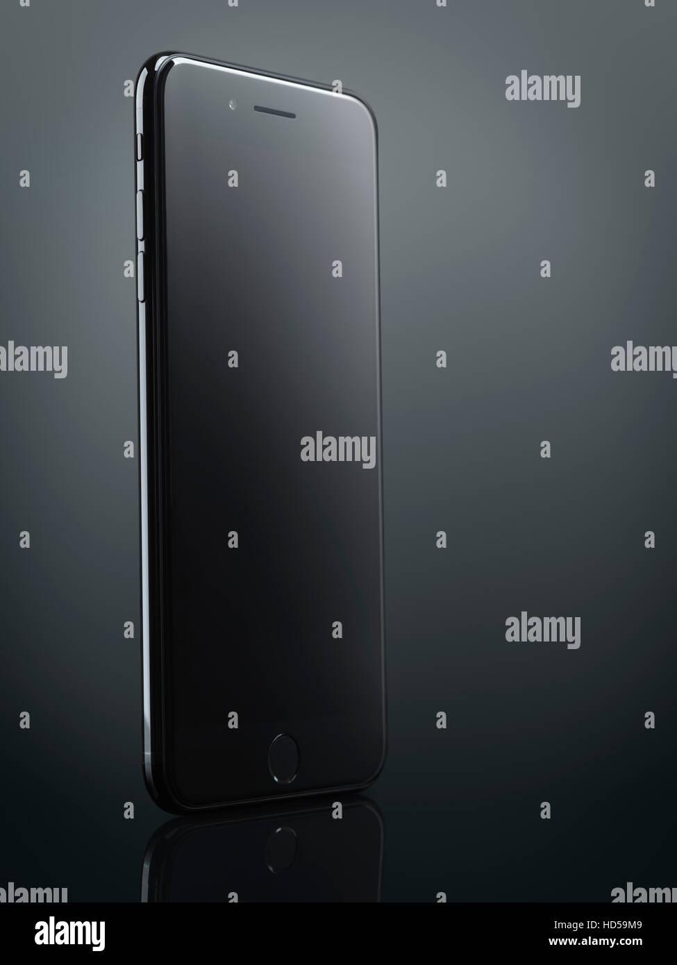 e34a72b454b Apple iPhone 7 noir Plus avec écran blanc isolé sur fond gris foncé avec  clipping path · Oleksiy Maksymenko / Alamy Banque D'Images