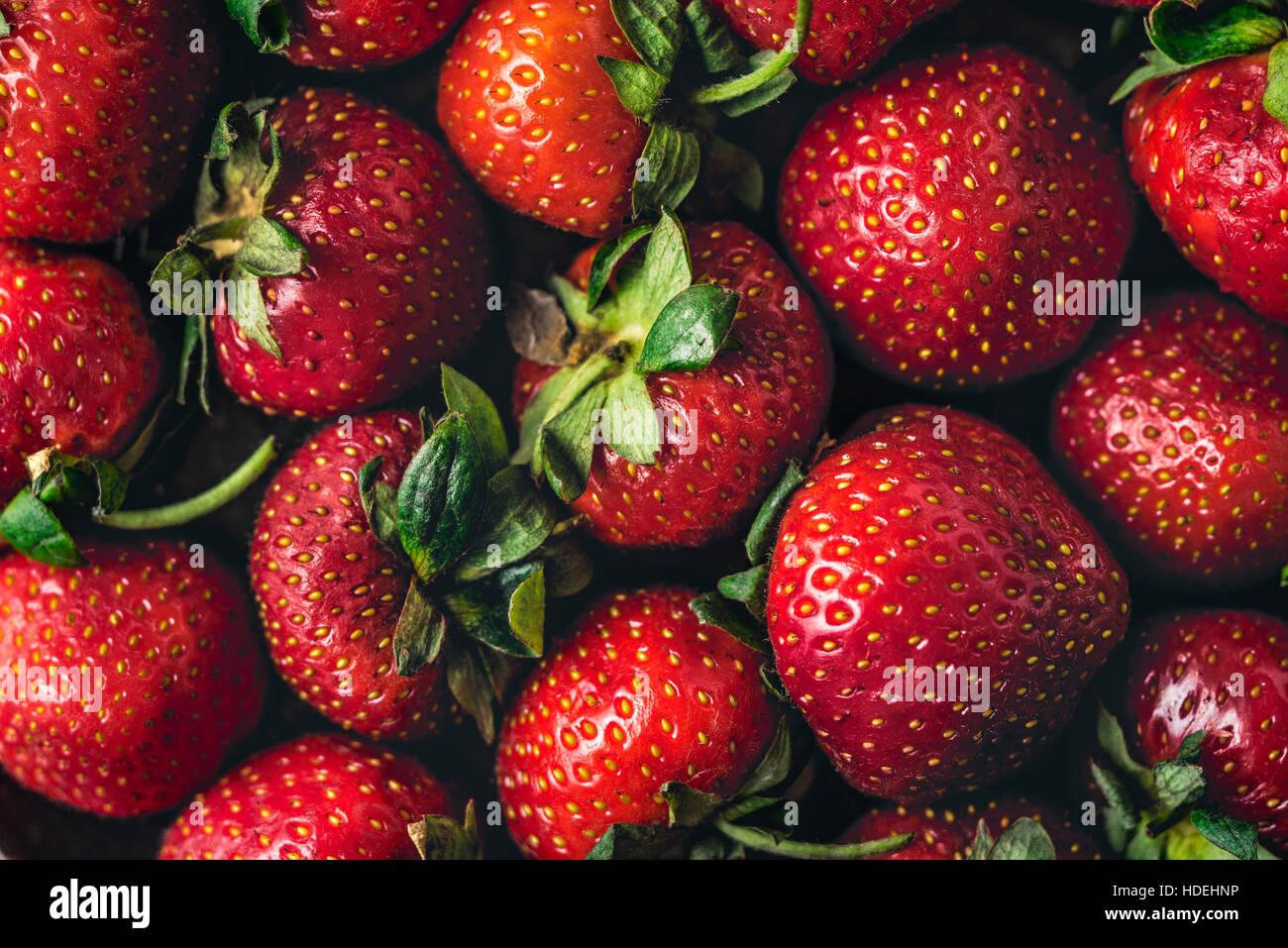 Arrière-plan de fraise horizontale close-up Photo Stock