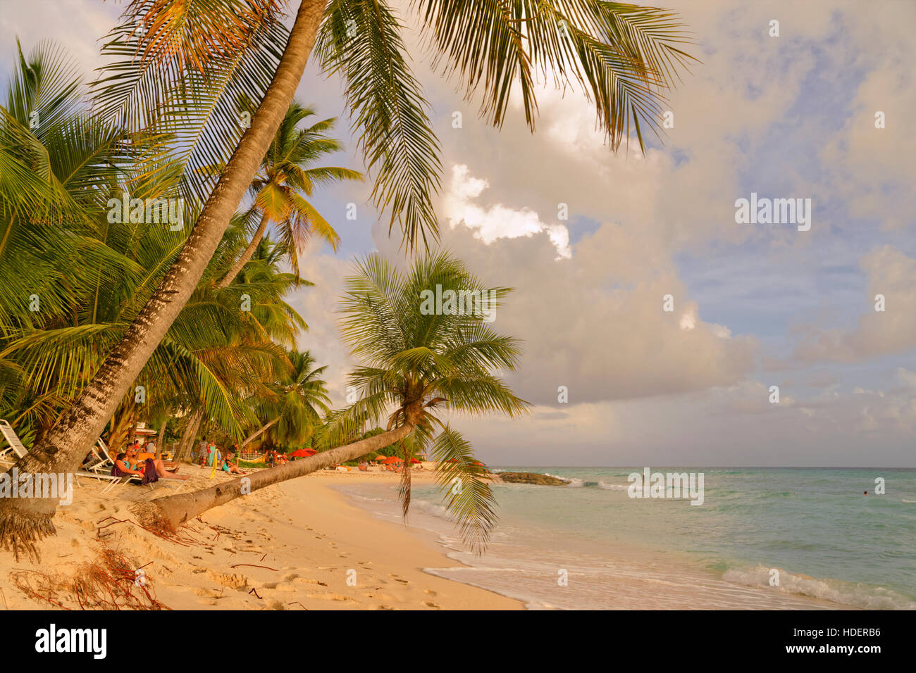 Dover Beach, St Lawrence Gap, Côte Sud, Barbade, Caraïbes. Photo Stock