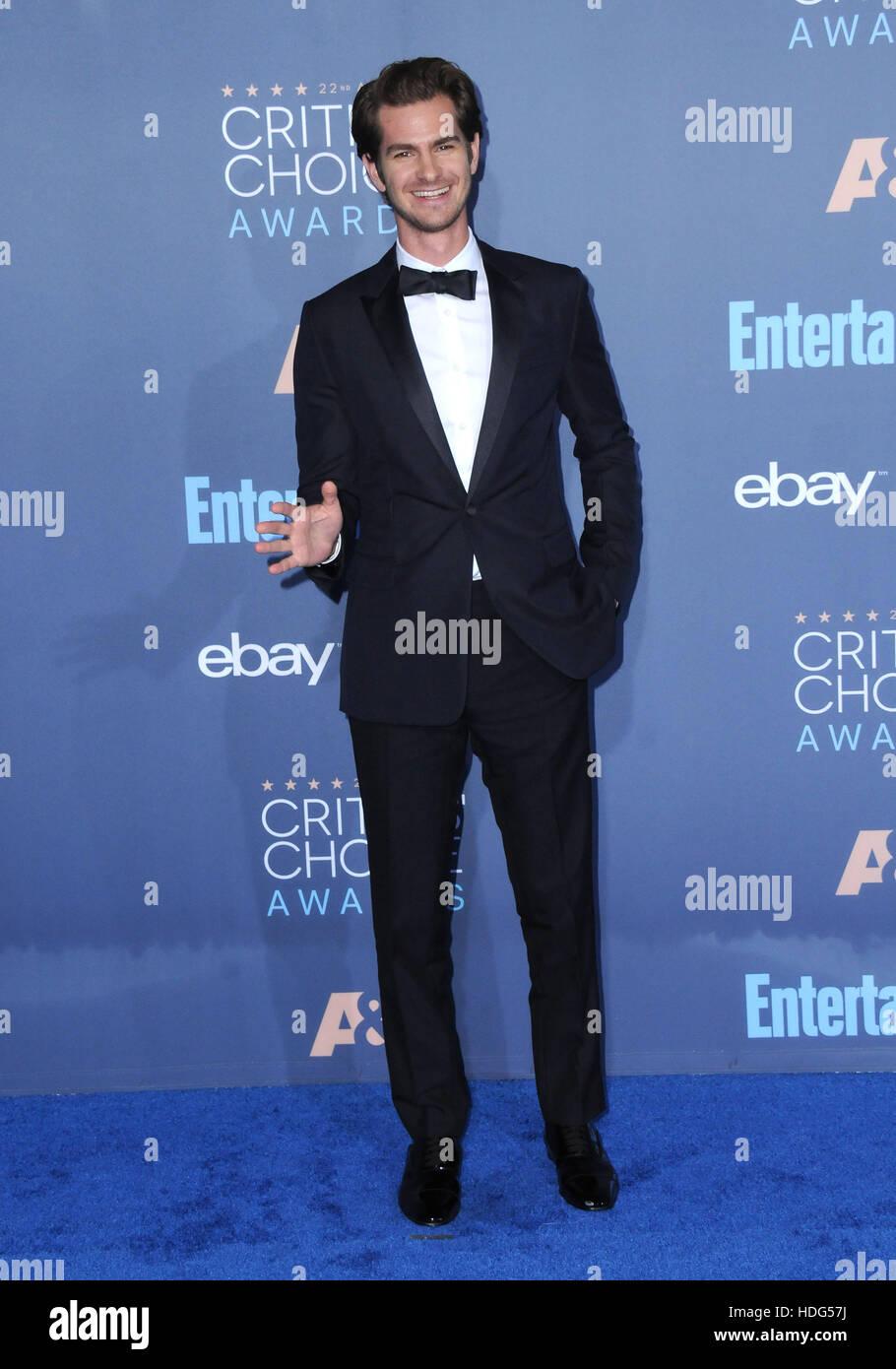 Santa Monica, Californie, USA. Dec 11, 2016. Andrew Garfield. Le 22nd Annual Critics' Choice Awards tenue au Barker Banque D'Images