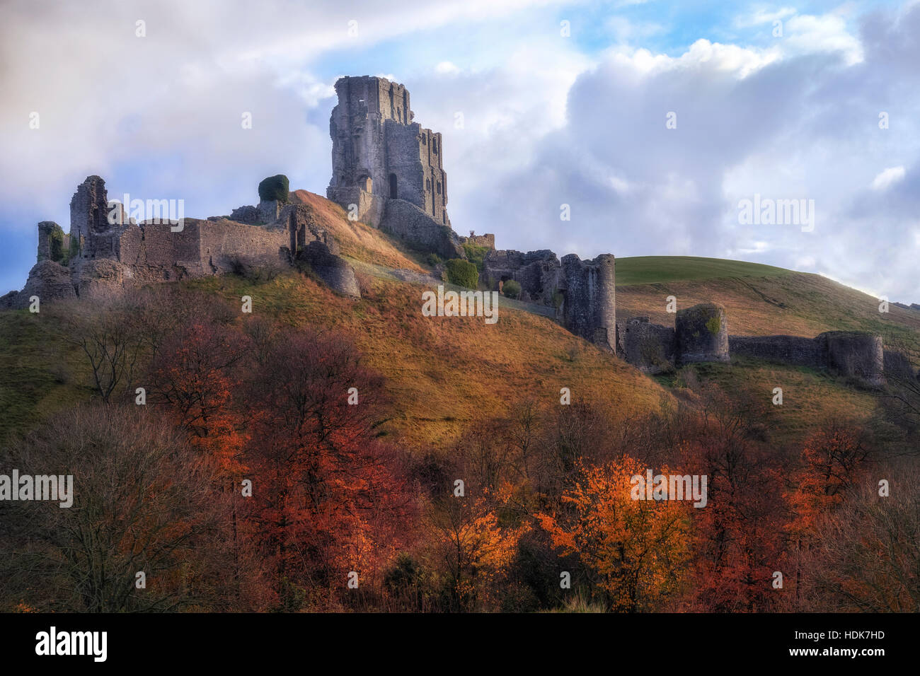 Château de Corfe, Dorset, England, UK Photo Stock