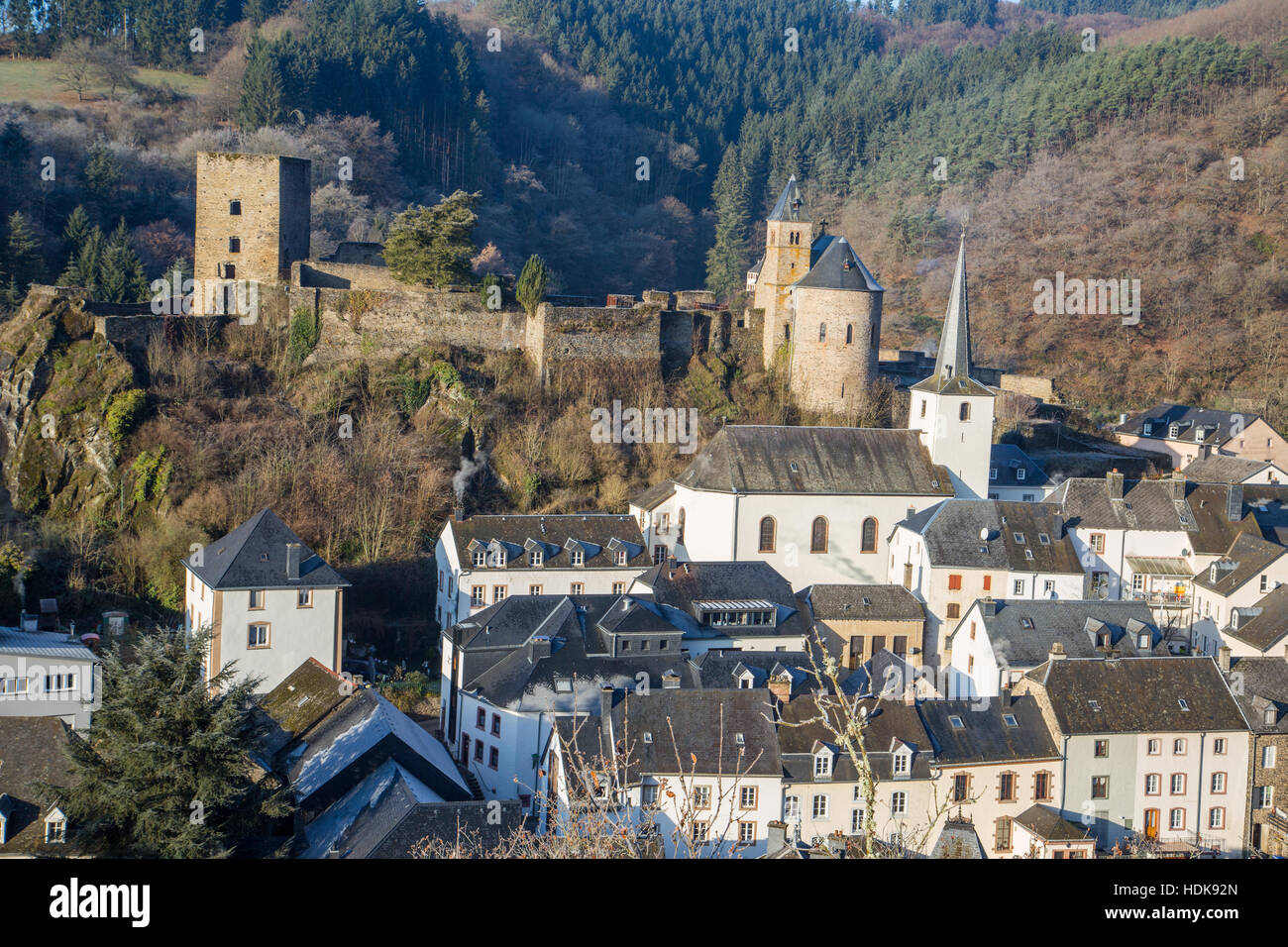 Esch-sur-Sûre Photo Stock