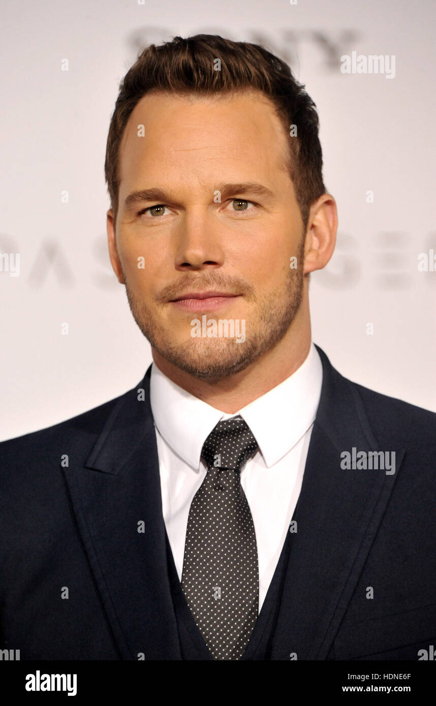Westwood, USA. 14 Décembre, 2016. Chris Pratt au Los Angeles premiere de 'passagers' qui s'est Photo Stock