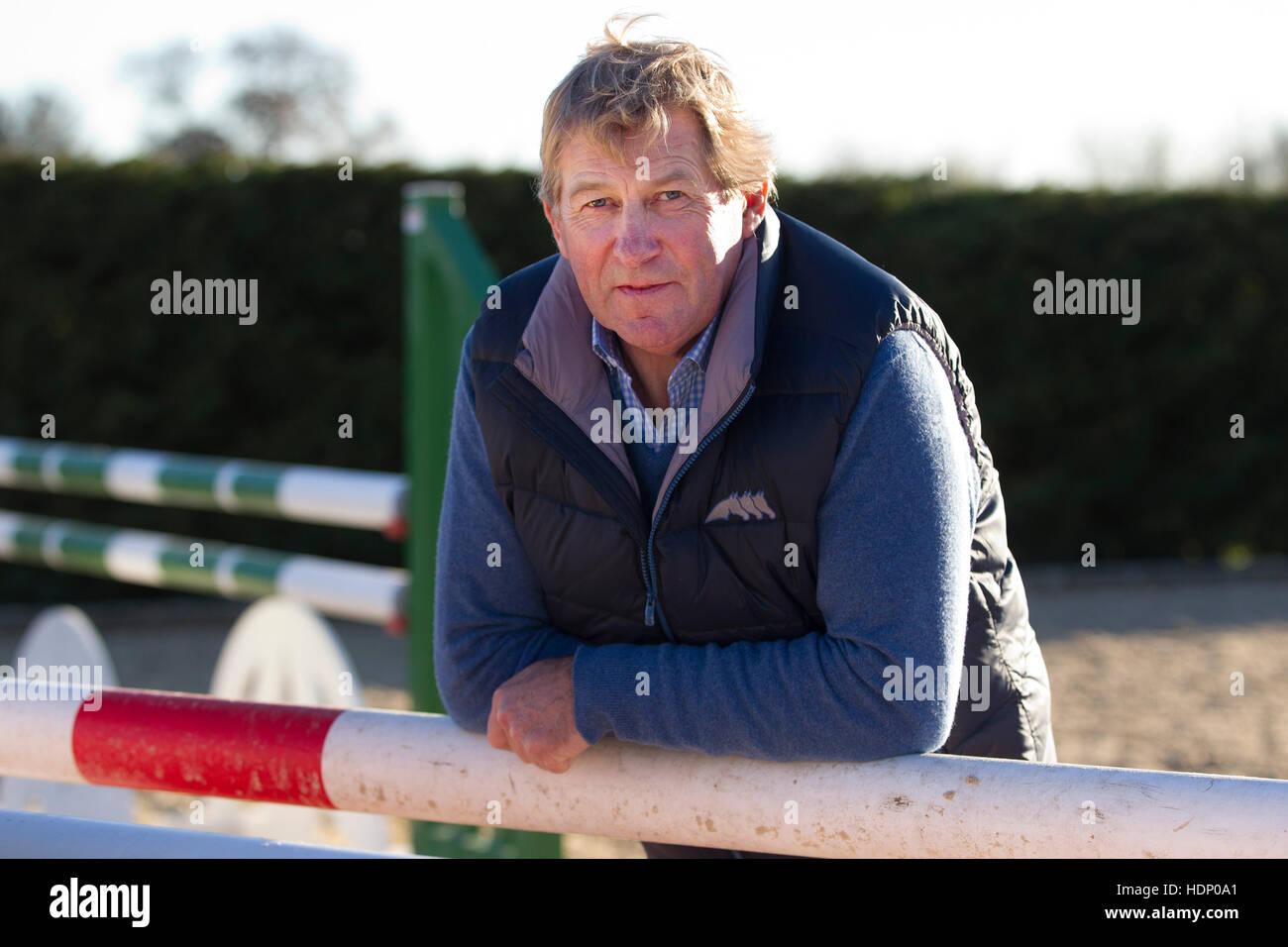 L'or olympique vainqueur Nick Skelton Vickie donne Pendleton et Frankie Dettori une masterclass, cso, Alcester Photo Stock
