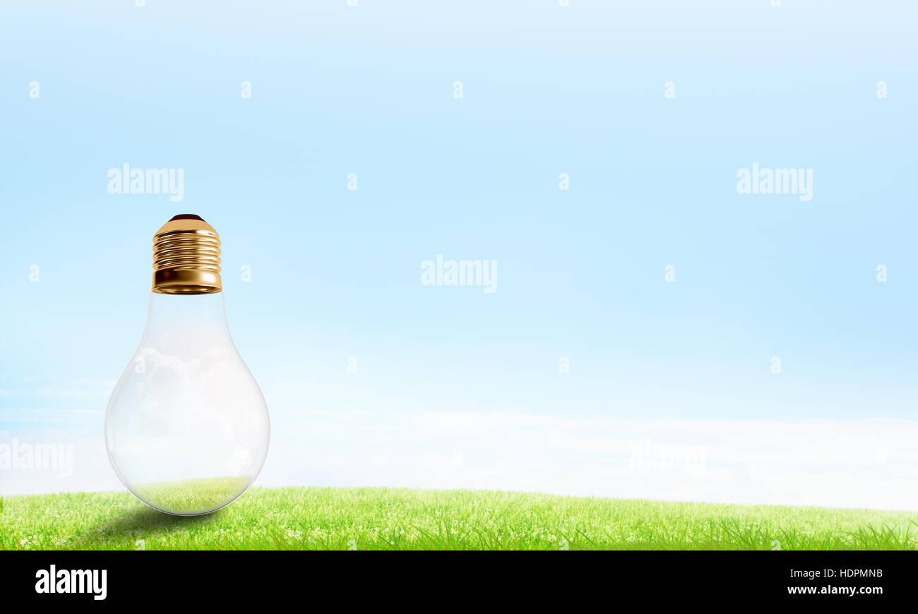 Concept de l'énergie solaire Photo Stock