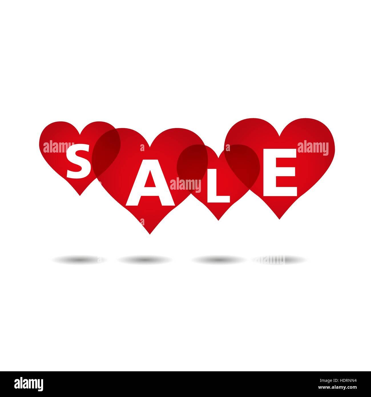 Vente Coeur fond, Jour de Valentines, vecteur, illustration Illustration de Vecteur