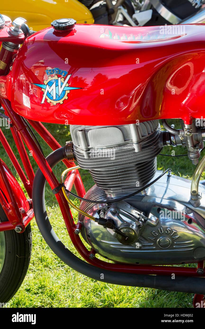 Vintage détail moto MV Agusta Banque D'Images