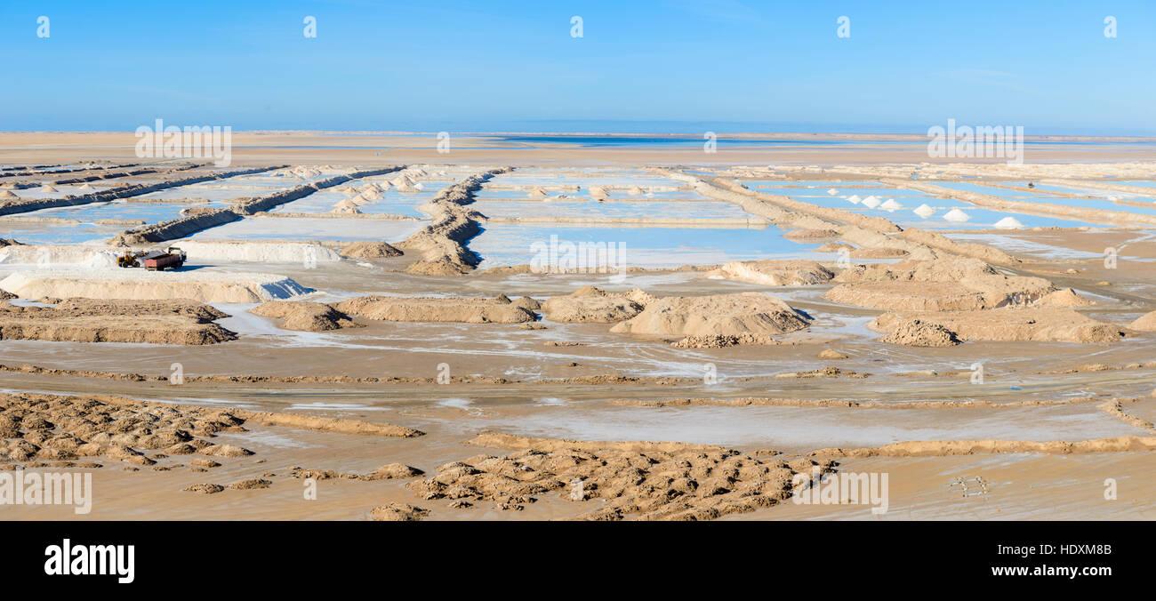 Pan de sel dans le sud du maroc Photo Stock