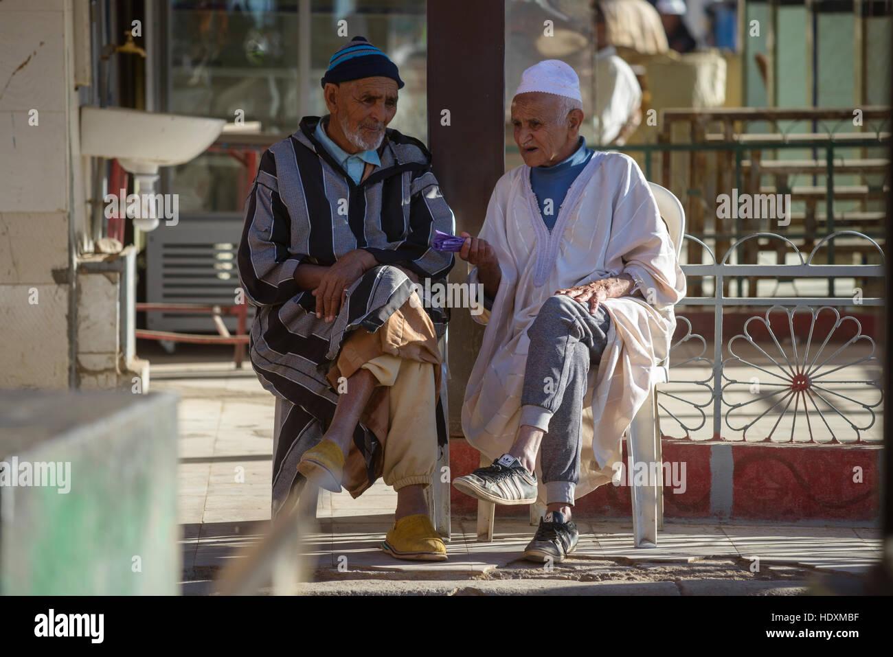 Les hommes marocains, Maroc Photo Stock
