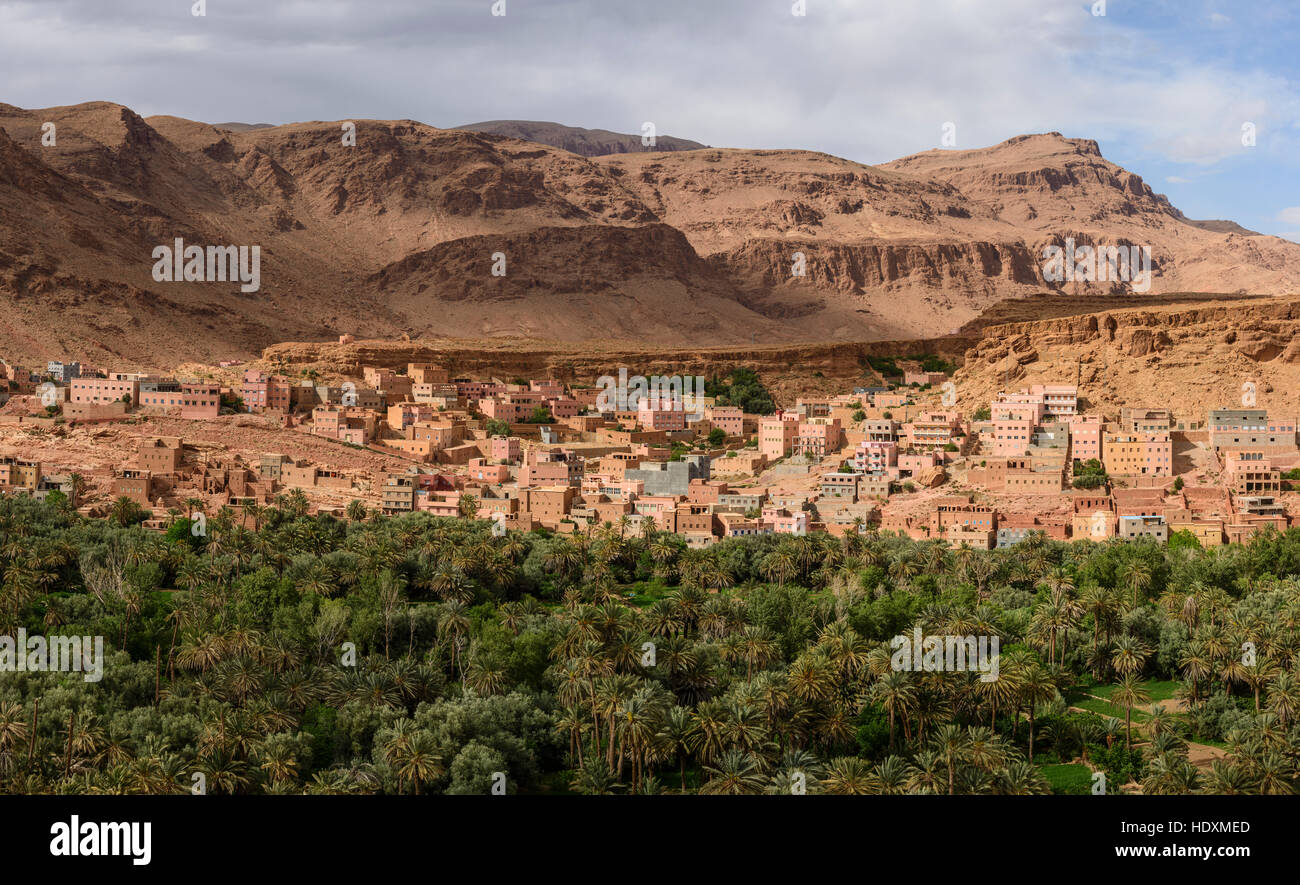 Villages du haut-Atlas, Maroc Photo Stock