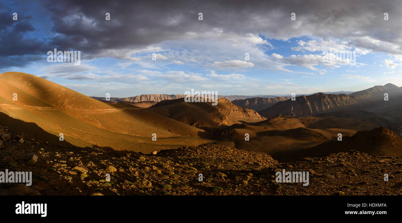 Canyons de la haut-Atlas, Maroc Photo Stock