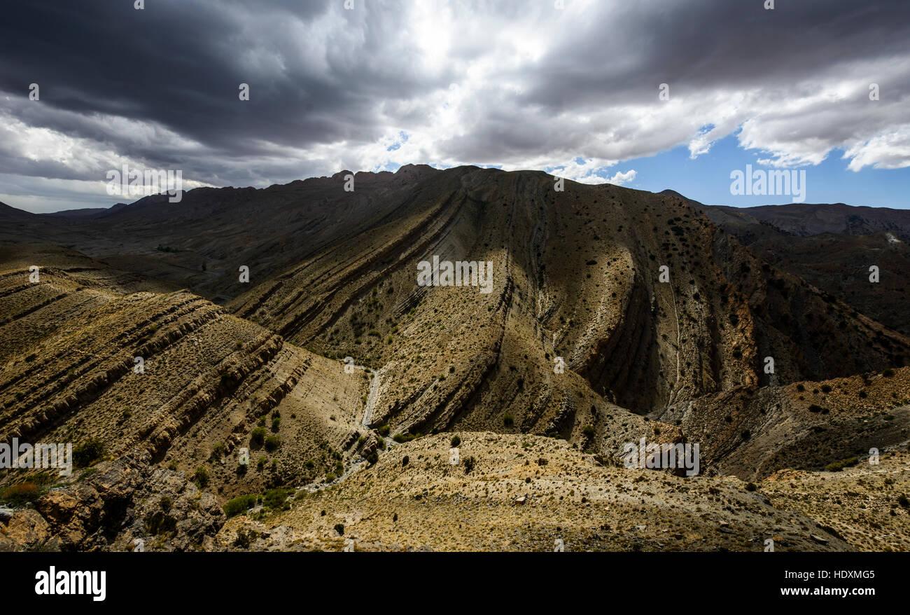 Canyons de la haut-Atlas, Maroc Photo Stock