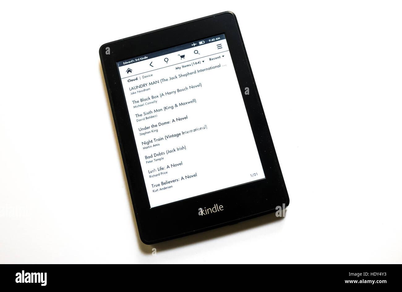 E-Reader Kindle Paperwhite Photo Stock