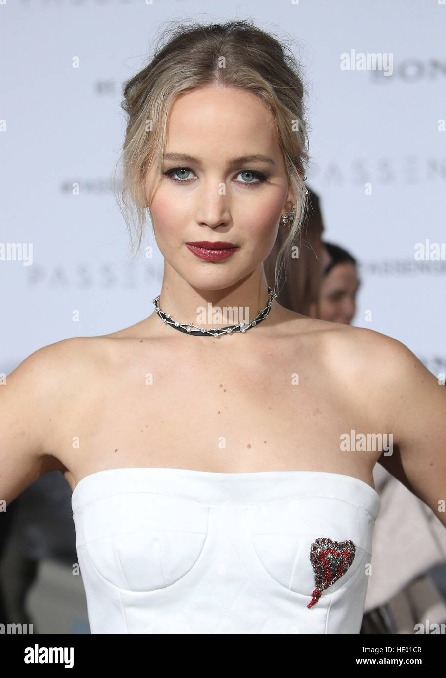 Westwood, CA, USA. 14 Décembre, 2016. 14 Décembre 2016 - Westwood, Californie - Jennifer Lawrence. ''Passagers'' Photo Stock