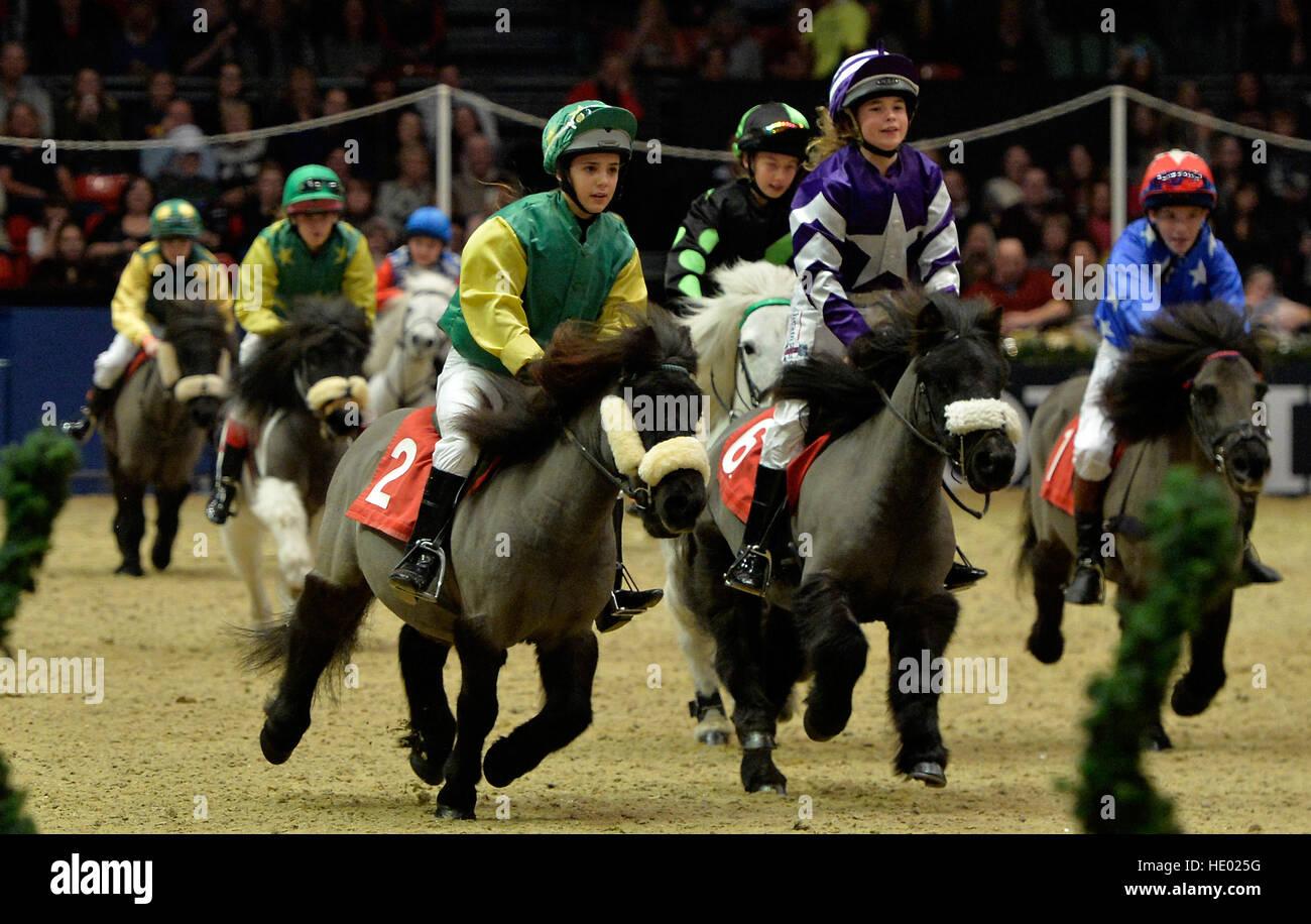 Londres, Royaume-Uni. Le 15 décembre, 2016. L'Olympia London International Horse Show à Grand Hall Photo Stock