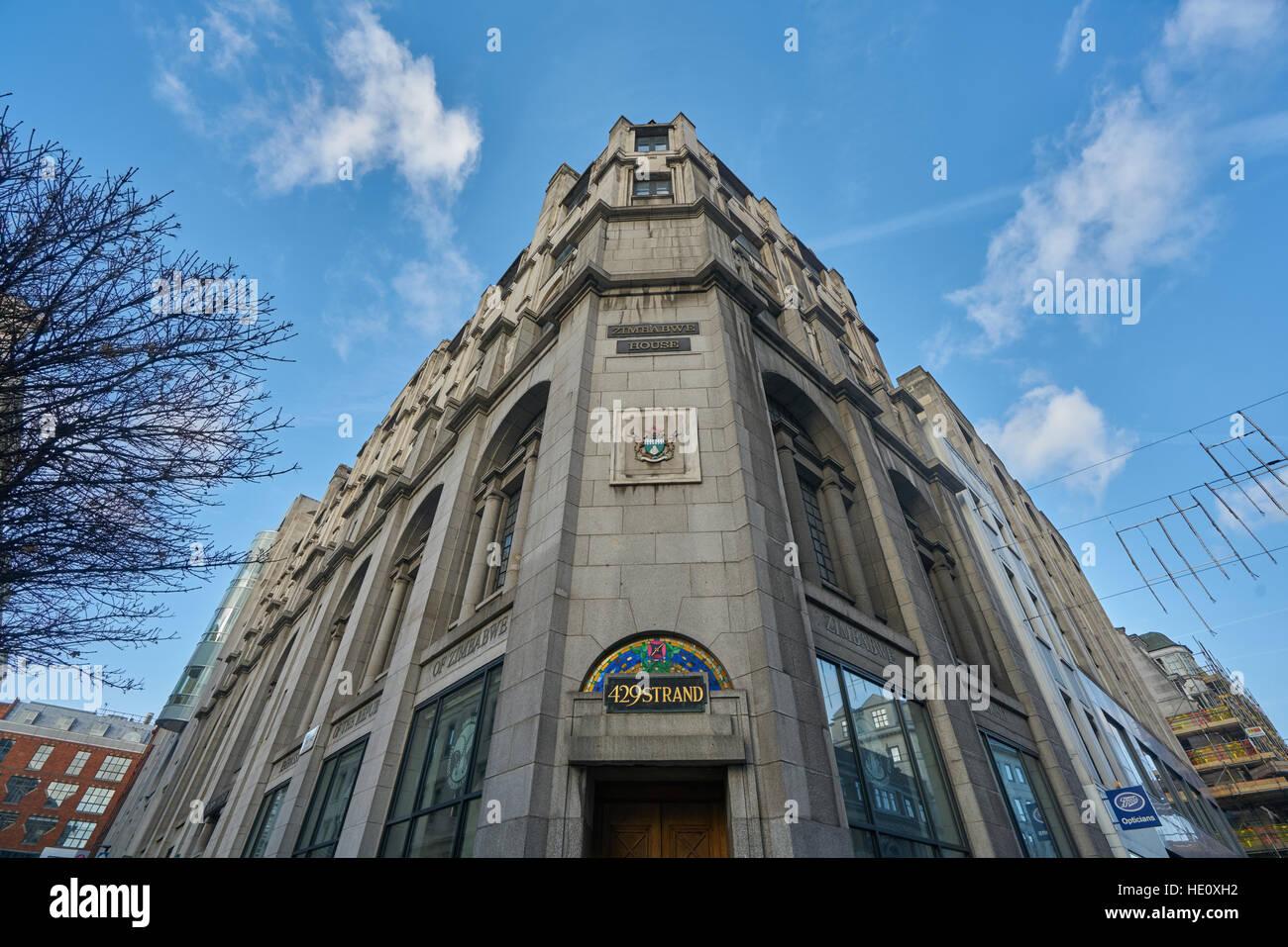 Ambassade du Zimbabwe, Londres Photo Stock