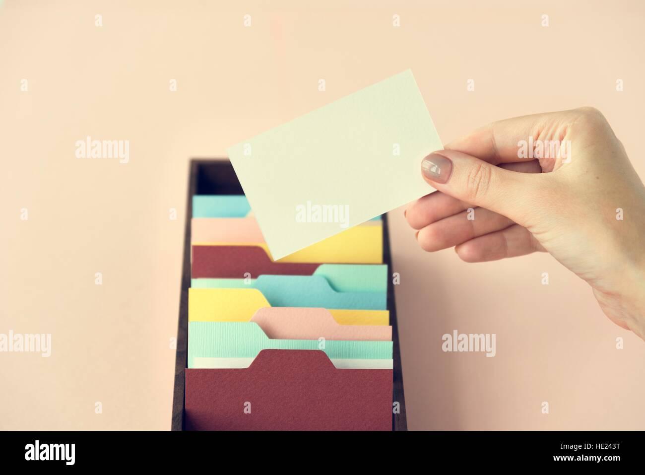 L'Administration de stockage de sauvegarde mémoire Archive Concept Photo Stock