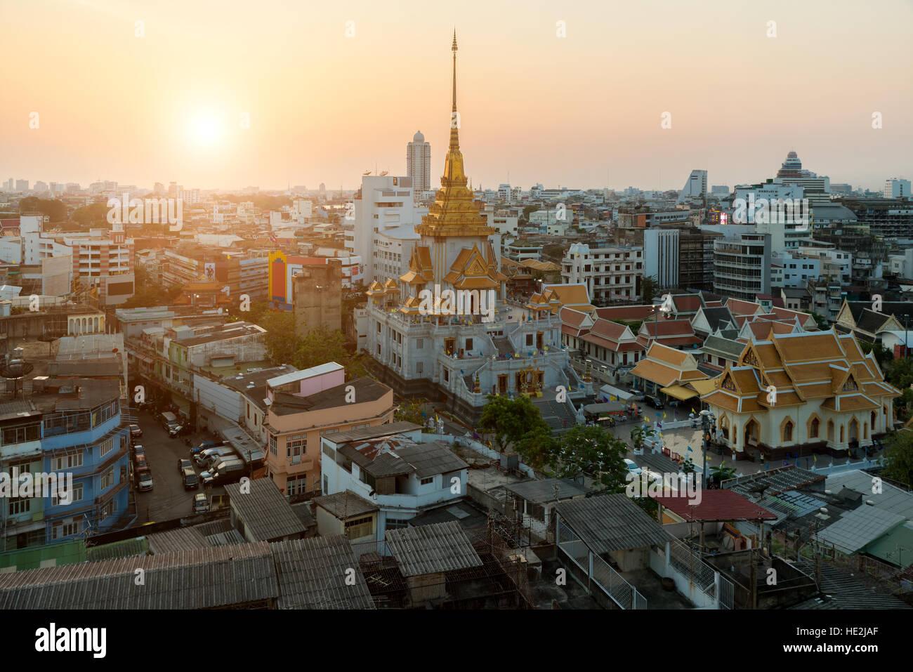 Wat Traimit dans China Town, dans Bangkok, Thaïlande Photo Stock