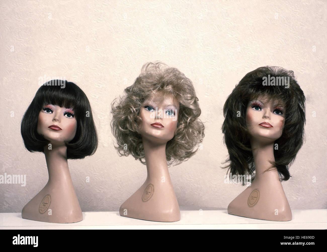 Sur les stocks de perruque perruques Photo Stock