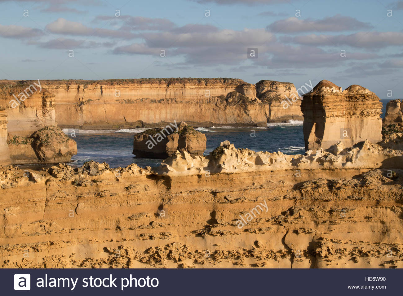 Le Razorback, Port Campbell National Park, Great Ocean Road, Victoria, Australie, routes panoramiques, des roches Photo Stock