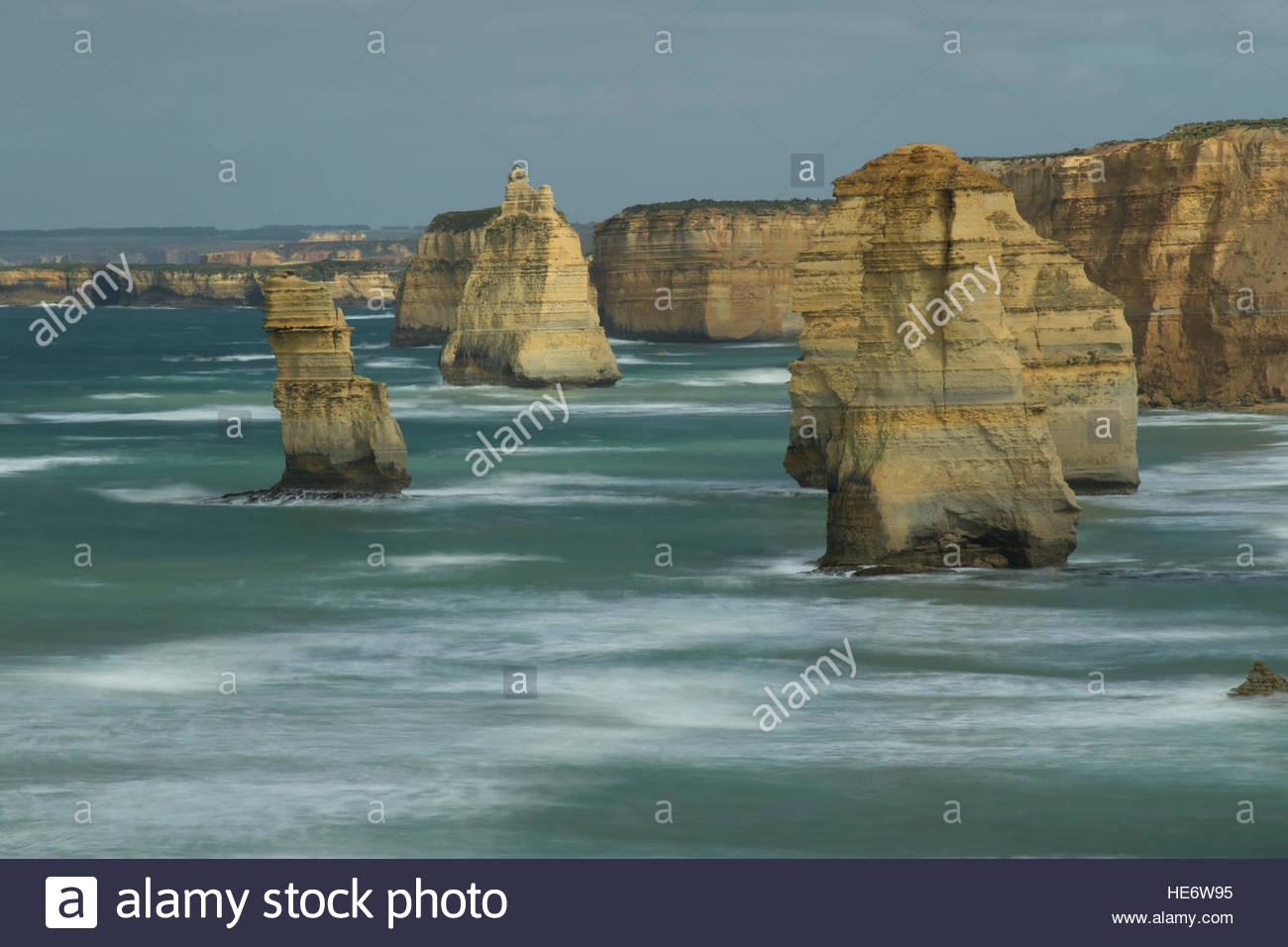 Les douze apôtres, Port Campbell National Park, Great Ocean Road, Victoria, Australie, routes panoramiques Photo Stock