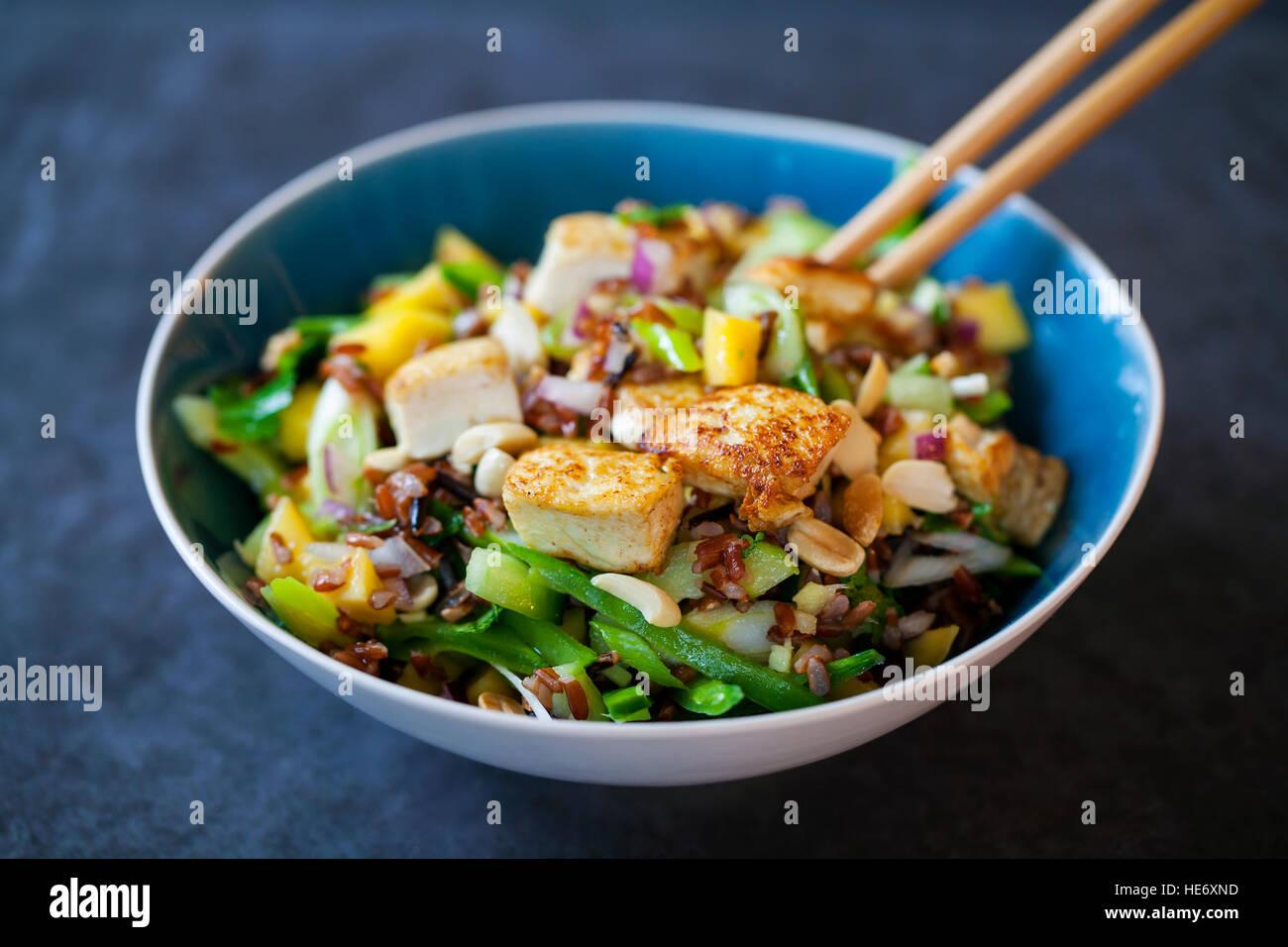 Salade de tofu Vegan Photo Stock
