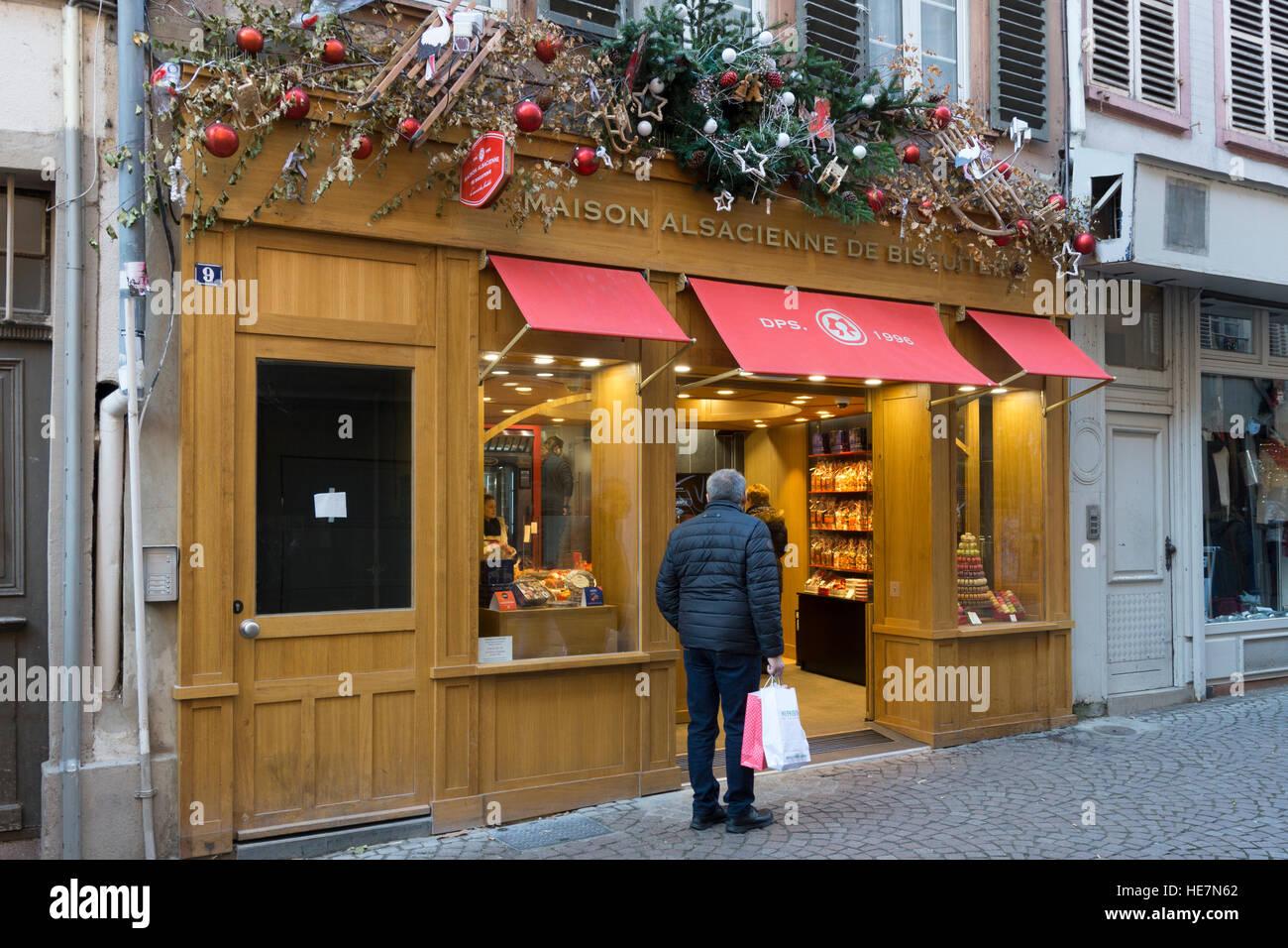 Maison Alsacienne De Biscuiterie Strasbourg Banque D Images Photo