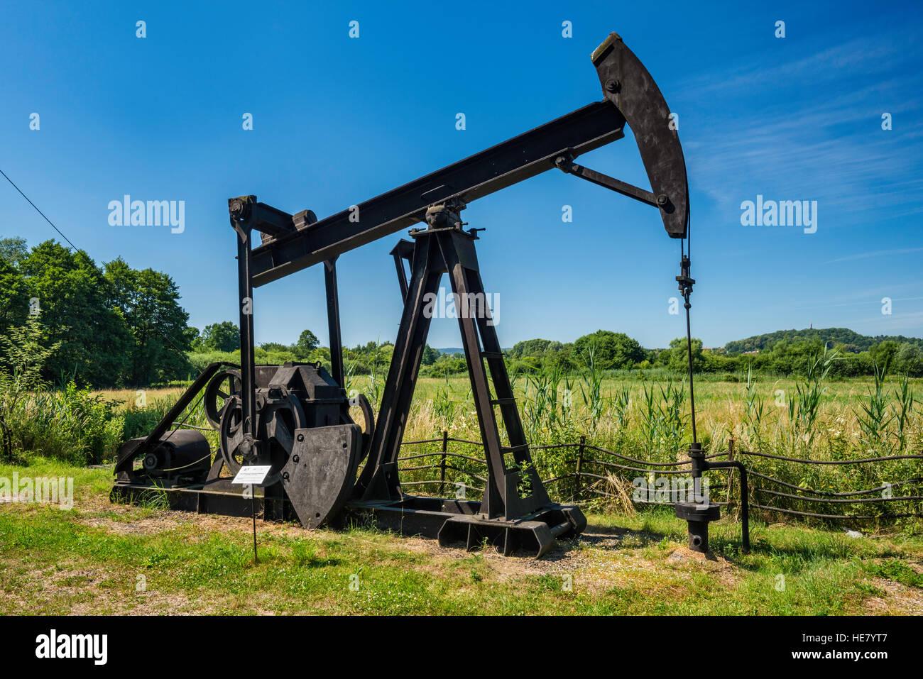 Carter izp 2000 huile et pompe à balancier, utilisé dans l'industrie du pétrole des puits, la Photo Stock